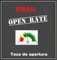 Tasa apertura email